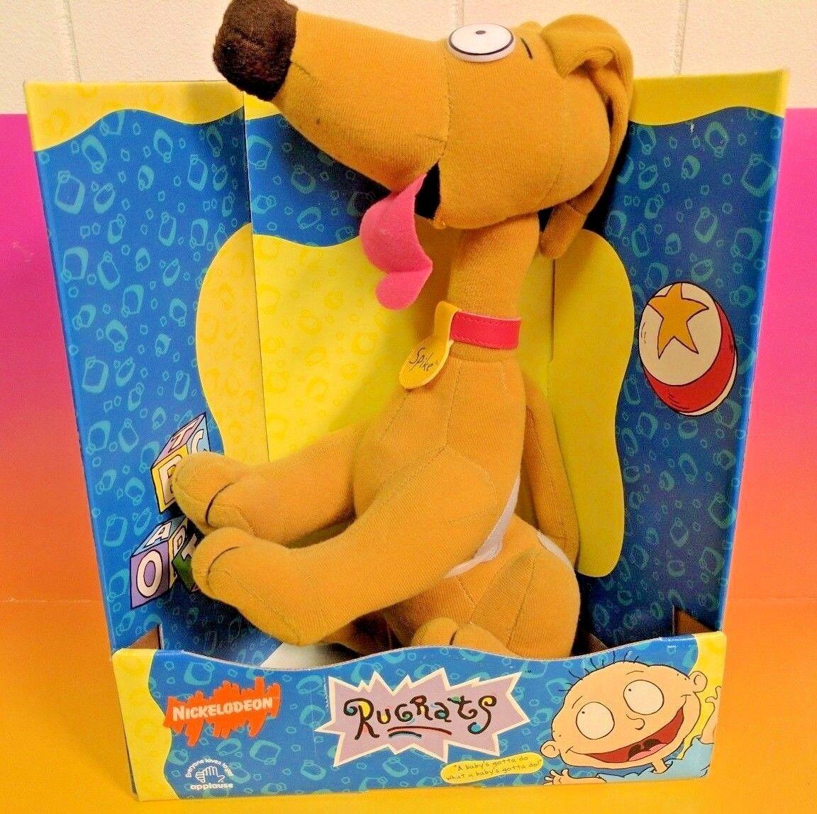 Nickelodeon Rugrats Spike 12  Peluche por aplausos 1996 totalmente NUEVO NUEVO CON ETIQUETAS RARO