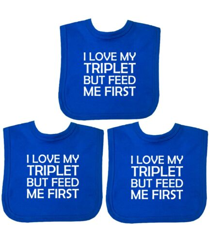 12m BabyPrem Baby Bibs Pack of Three Bibs Gifts for TRIPLETS Age Newborn