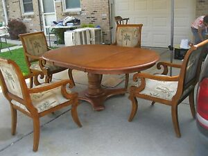 Image Is Loading Dining Room Table Set 4 Chair Louis XV