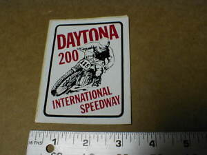 Daytona-200-SPEEDWAY-Vtg-old-Motorcycle-Motocross-racing-old-decal-Sticker-1970s