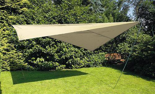Sonnensegel Sonnenschutz Tarp  400 x 500 cm sandfarben | Zahlreiche In Vielfalt  | Exquisite Verarbeitung  | Ein Gleichgewicht zwischen Zähigkeit und Härte
