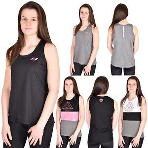 Skechers Womens Vests Gym Keep Fit Sports Ladies Activewear Tops ... 145c7dee67fa