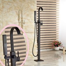 Oil Rubbed Bronze Bathtub Faucet Free Standing Tub Filler Hand Sprayer Mixer Tap