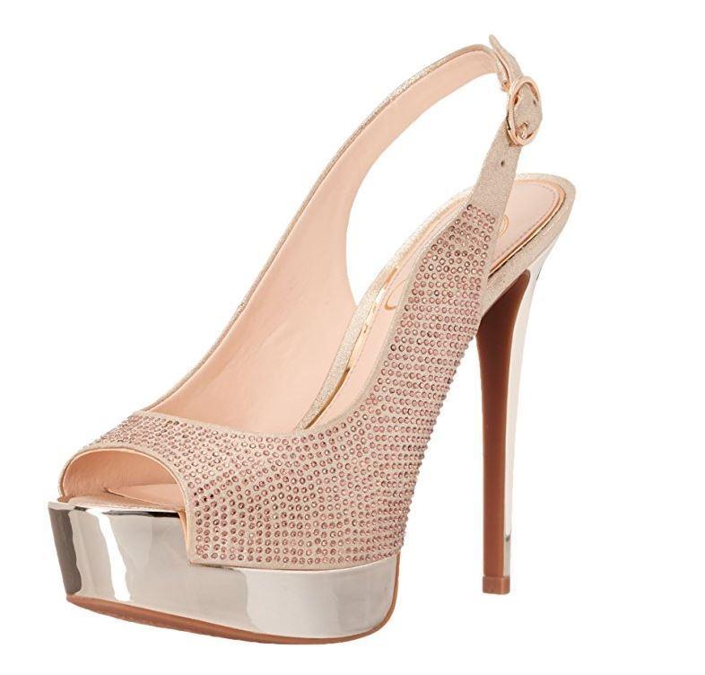 Jessica Simpson Women's Kabale Dress Sandal, Pale gold, 8 M US