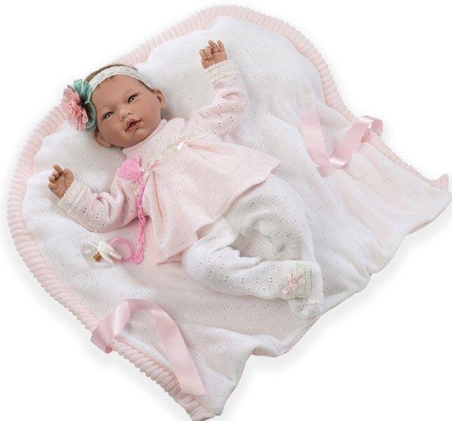 Lebensechte Puppe AINOA 46cm Reborn Babypuppe Sammlerpuppe Vinyl Spielzeug Kind