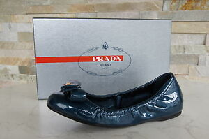 PRADA-Taille-35-5-Ballerines-Mocassins-Chaussures-Basses-Femme-Vernis-chaussures