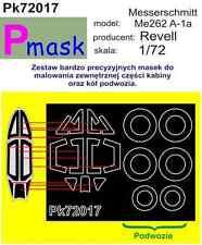 Messerschmitt Me262A-1a PAINTING MASK TO REVELL KIT #72017 1/72 PMASK