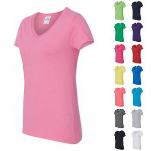 Gildan-Ladies-Heavy-Cotton-Womens-V-Neck-T-Shirt-with-Tearaway-Label-5V00L