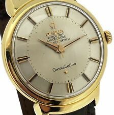 Men's OMEGA Constellation Solid Gold 18k Automatic Watch, Pie Pan Dial