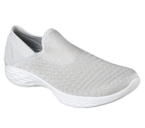 Memory Silver 14959 Foam Transcend You Trainers Skechers Womens Flats Lifestyle Shoes 7URSSx