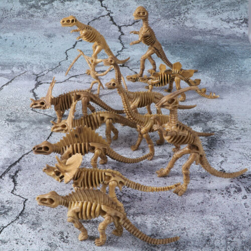 12Pcs Dinosaur Skeleton Fossils Assorted Bones Figures Toys Kids Teaching Gifts