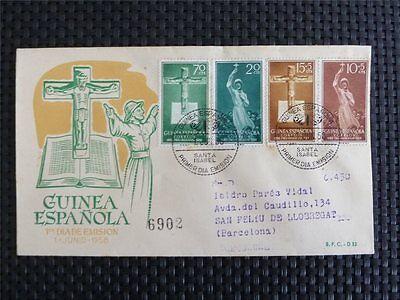 Familie & Soziales Nachdenklich Guinea Espanola Fdc 1958 Christian Jesus Kreuz Cross Crucifix Missionar C4150