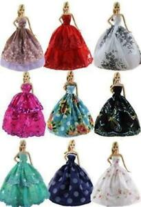 6pcs-Lot-For-Doll-Fashion-Princess-Dresses-Outfits-Party-Wedding-Clothes