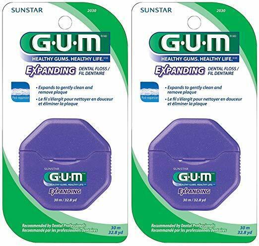 GUM Expanding Dental Floss 30 M. - 2 Pack