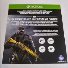 Rainbow Six Siege: Gold Edition WEAPON SKIN PACK CARD (Xbox One) #2127