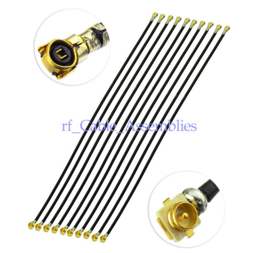 """10x IPEX MHF4 Jack to IPX U.FL Connector Plug Male Cable 4/"""" for intel 7265 8260"""