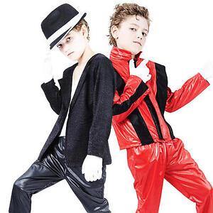 Image is loading 80s-Michael-Jackson-Boys-Fancy-Dress-Halloween-1980s-  sc 1 st  eBay & 80s Michael Jackson Boys Fancy Dress Halloween 1980s Popstar Kids ...