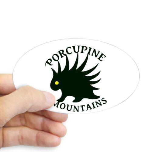 611616490 Oval CafePress Porcupine Mountains Sticker