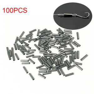 100PCS-Single-Brass-Fishing-Crimp-Sleeves-Tube-Wire-Leader-Sleeve-1-0-2-8MM-Good