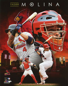 St-Louis-Cardinals-YADIER-MOLINA-Glossy-8x10-Photo-Collage-Print-Poster