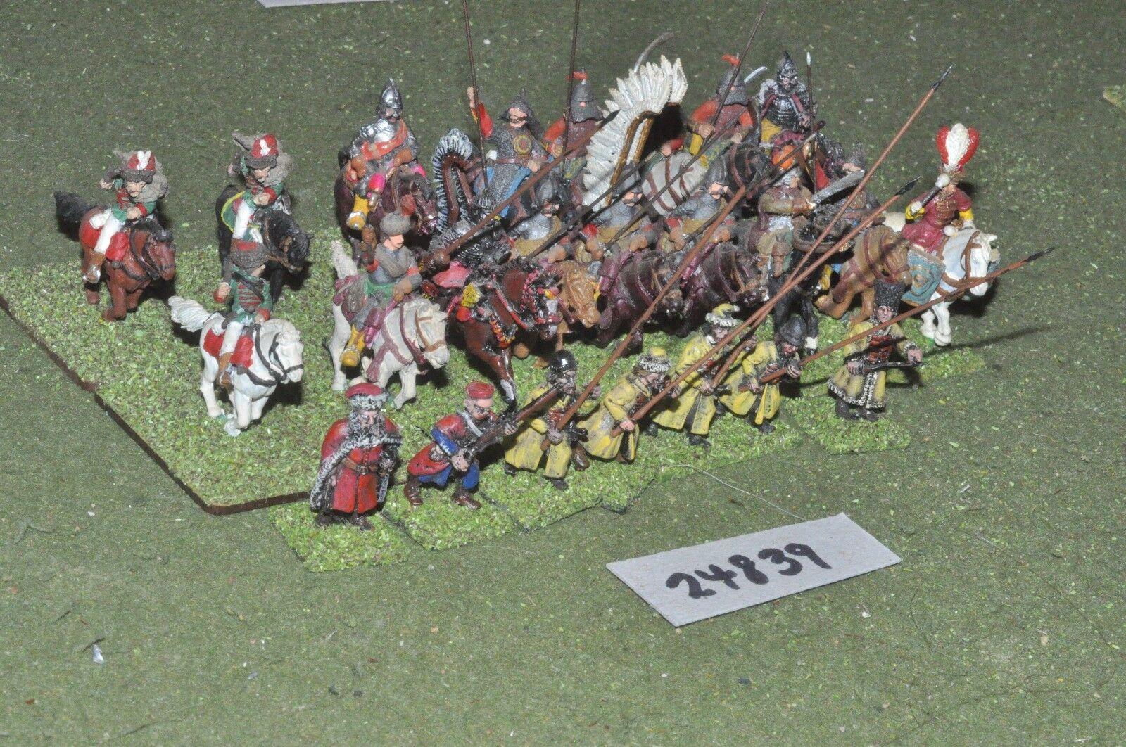 25mm renaissance   polish - battle group 24 figures - cav (24839)