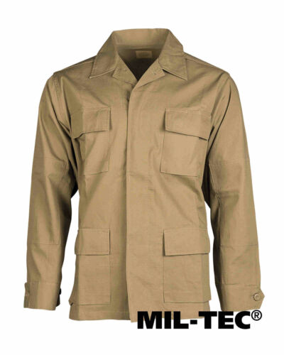 Mil-tec us BDU campo chaqueta R//S Dark coyote hidrófuga chaqueta