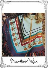 Vintage Knitting Pattern • LADIES FRINGED PONCHO with *LITTLE PEOPLE* DESIGN