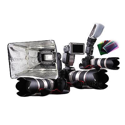 K3 Flash Adapter Kit softbox/reflector/honeycomb/color gel f Canon/Nikon/Yongnuo