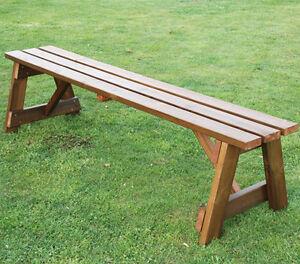Panchina In Legno Da Giardino.Panchina In Legno Da Giardino 4 Posti 35 Mm Ebay