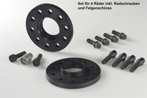 Spurplatten Typ 3T H/&R ABE Spurverbreiterung schwarz 10//30 mm Set Skoda Superb