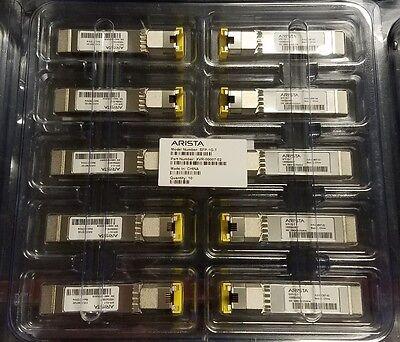 Brand New Lot of 10 Arista SFP-1G-T XVR-0007-02 ABCU-5730RZ-AR1 Modules