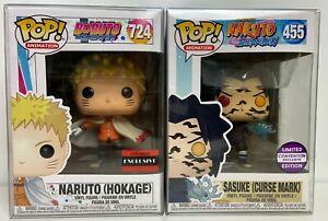 Funko-Pop-Naruto-Sasuke-Cursed-Mark-455-amp-Boruto-Naruto-Hokage-724-w-Protector