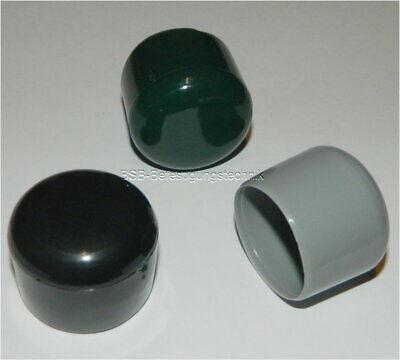 Ø 25 mm Rohrkappen Abschlusskappen 25 PVC Kappen grau für Rundrohre mit ca