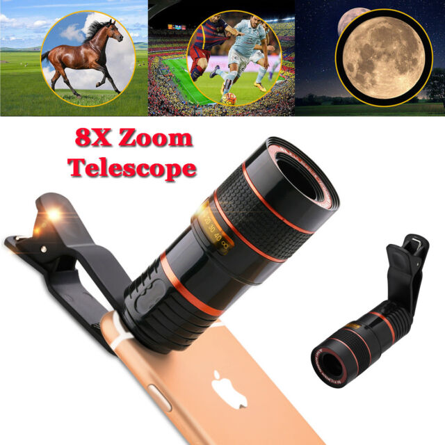 Universal Clip On 8x Optical Zoom Hd Telescope Camera Lens For Cell