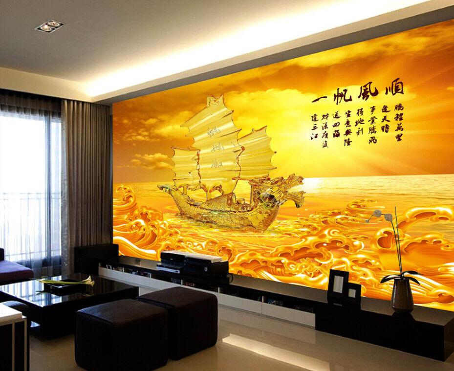 3D SegelnStiefel Meer 743 Tapete Wandgemälde Tapete Tapeten Bild Familie DE Summer
