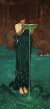 Circe Invidiosa, 1892 J.W. Waterhouse Fantasy Woman Print Poster 13x19