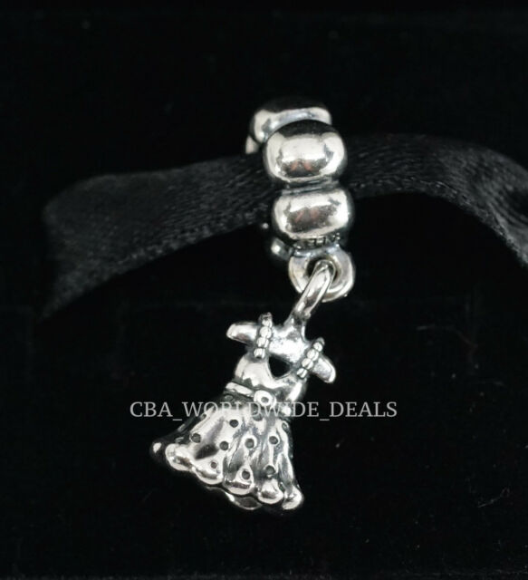 ff3d12247 NEW Authentic / Genuine Pandora Party Girl Dress Silver Dangle Charm Bead  791031