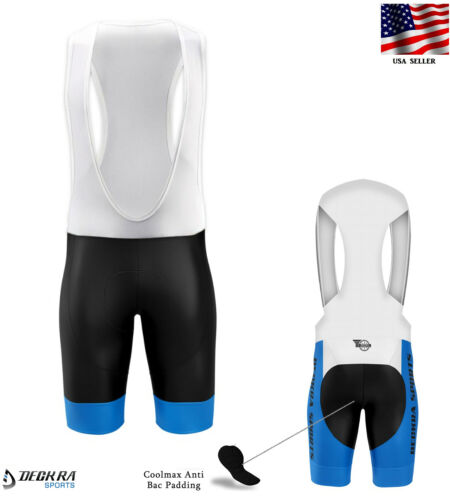 Deckra Mens Cycling Bib Shorts High Quality Padded Bicycle Team Racing Shorts