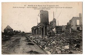 CPA-51-HEILZ-LE-MAURUPT-Marne-63-Route-de-Rennes-Bataille-de-1914