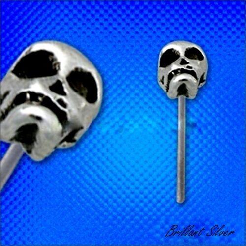 Nasenpiercing Nasenstecker 925 Sterlingsilber Skull Totenkopf Stecker Nase