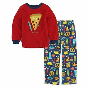 7b59621b01d9 Carter s Boys 2-Piece Fleece Pajama Set - Red   Pizza - Sizes  3T Q ...