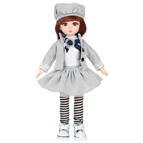 36cm Joints BJD Doll Body Hair Wig Dress Up Girl Dolls Pretend Play for Kids