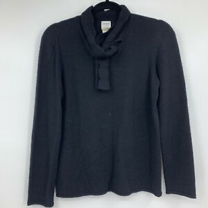 Armani-Collezioni-sweater-10-womens-pullover-cashmere-black-neck-bow-tie-black