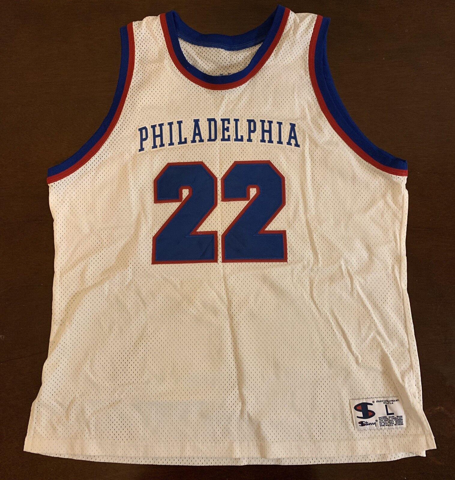 Rare Vintage 2002 Stussy Philadelphia 22 Year Anniversary Basketball Jersey