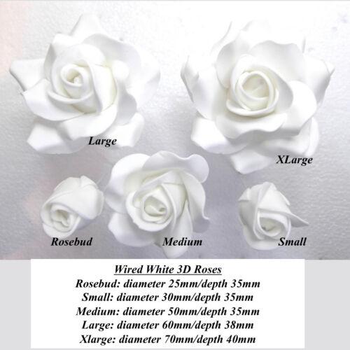 Rose Clair Roses filaire sucre fleurs mariage anniversaire gâteau Décorations