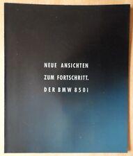 BMW 850i 1989 1990 Large Format German Sales brochure Prospekt - 8 Series V12