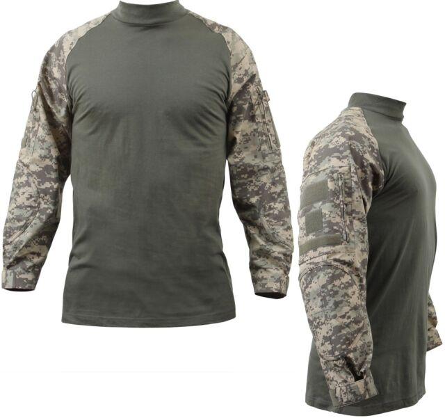 4ebc64dca98e9 Rothco Military Combat Shirt ACU Digital Camo 2xl | eBay