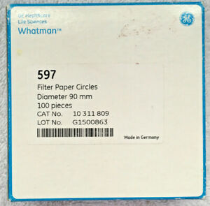 240 mm Diameter GE Healthcare 1441-240 Grade 41 Fast Ash Less Filter Paper Pack of 100 Circle