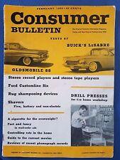 Consumer Bulletin - February 1959 - Oldsmobile 88 - Buick Lesabre