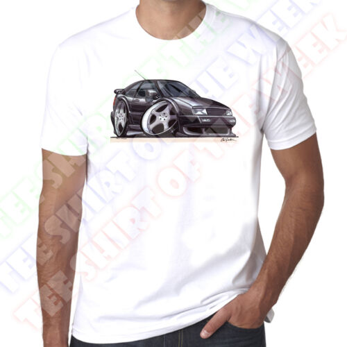 WickedArtz Cartoon Corrado Black Car Mens 100/% Cotton White T-Shirt